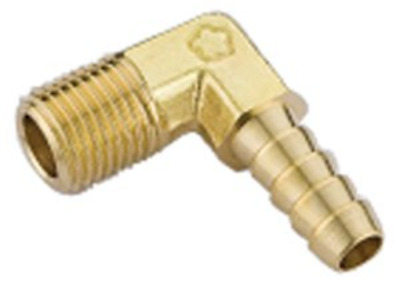 "Hoses&Couplings Online - 1/4"" Bspt Male X 1/4"" Hose Id Brass Elbow Hosetail PACK"