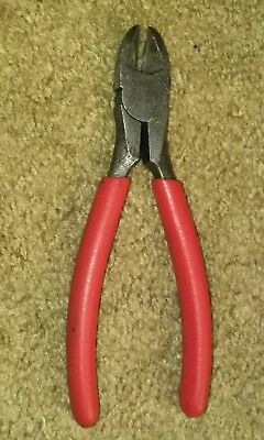 """Snap On 7-1/4"""" Long Diagonal Wire Cutters Pliers 87BCP USA Vinyl Grip Dikes"""