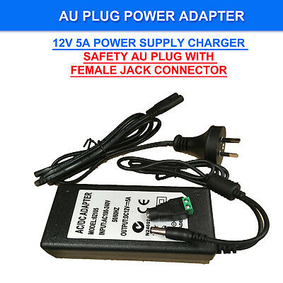 AC240V to DC12V Power Supply Adapter Charger Converter AU Plug 5.5mm*2.5mm 1-5A