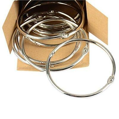 Pawfly 3 Inch Loose Leaf Binder Rings Large Book Ring, 12 Pieces