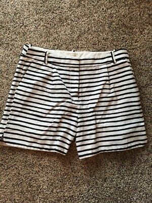 d4aef08167 WOMANS HIGH WAIST Pleated Shorts Black Size 6 H&M Brand Preowned ...