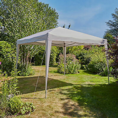 Pop Up Gazebo 3m x 3m Outdoor Garden Marquee Tent Easy Up Grey With Carry Bag