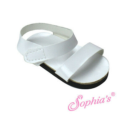 """White Strappy Summer Sandal Sandals fits 18"""" American Girl Dolls"""