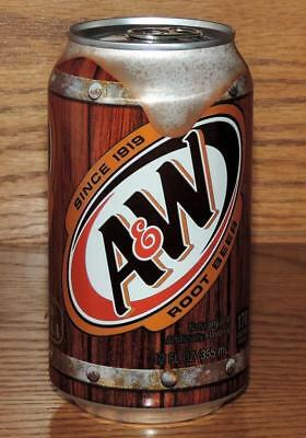 2018 USA A&W ROOT BEER 12oz 355mL FULL SODA CAN w/CONTENTS
