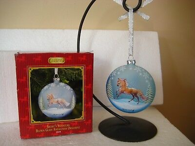 BREYER Horse Artist's Signature Blown Glass ANDALUSIAN Christmas Ornament 2009