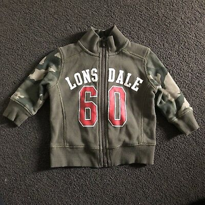 Lonsdale Baby Boys Jacket GUC  Size 0  Or 6-12 Months Jumper Sweater