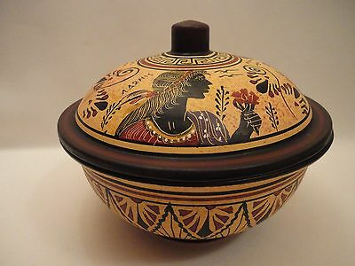 Goddess Aphrodite Daphne Adonis Rare Ancient Greek Art Pottery Bowl Case Painted