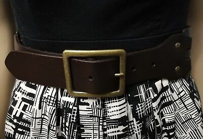 Esprit Wide Woven Leather Belt