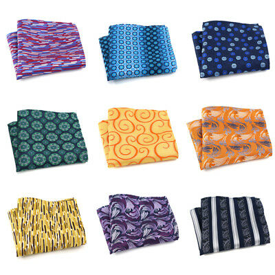 Factory Men's Handkerchief Pocket Square Striped Floral Silk Chest Tower Hanky