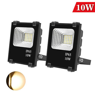 Pair 10W LED Body Floodlights Outdoor Security Flood Lights Lamp Warm White