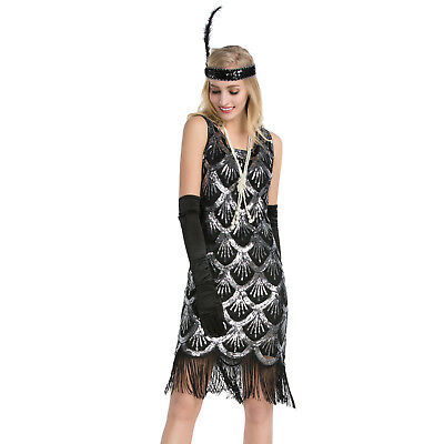 Women's 1920s Flapper Dress Inspired Fringed Great Gatsby Themed Costumes