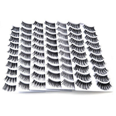 10 Pairs Handmade 6 Styles Makeup Natural Long Thick False Eyelashes Eye Lashes