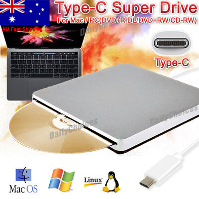 USB 2.0/3.0 External CD DVD Drive Writer Burner Slot-in RW Player For Mac Laptop