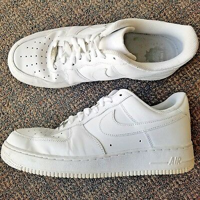 newest 2cd0d 4c50d 2017 NIKE AIR FORCE 1  07 White Leather Triple Whiteout 315122-111 MENS SIZE