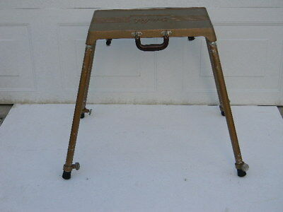 Vintage Safe-Lock Project-O-Stand Portable Projector Stand Table Metal Aluminum