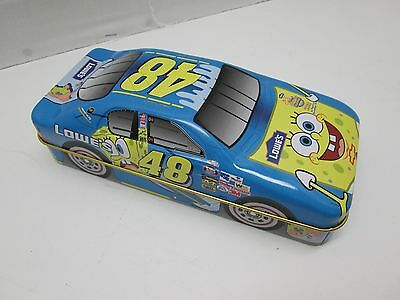 Nascar SpongeBob Squarepants Lowes Tin Car with Playing Cards #48 NEW