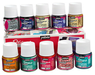 Pebeo Fantasy Prisme Reactive Multi-Surface Paint Assorted 10 x 45ml Box Set
