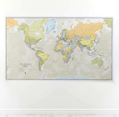 Huge Classic World Map For Kids Big Giant Wall Print Large Wallpaper Laminated