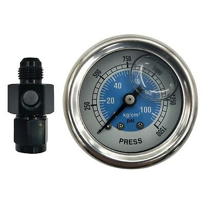 Nitrous NOS NX15912 Mechanical Bottle Pressure Gauge With 6AN adapter