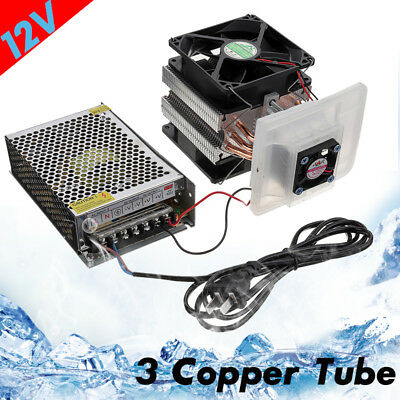 3 Copper Tube Cooling Thermoelectric Peltier Refrigeration Cooling System 12V