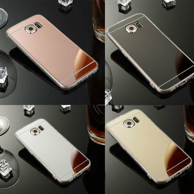 Silicone Mirror TPU Shockproof Case Cover for Samsung Galaxy S7 S6 Note 8 5 4 J7