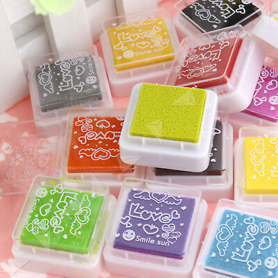 Set of 24 Colors Rubber Stamps Pigment Ink Pads For Paper Wood Fabric Craft