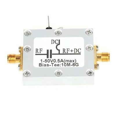 Radio Frequency RF Blocking Filter Coaxial Feed Bias Tee 10MHz-6GHz Low Loss Hot
