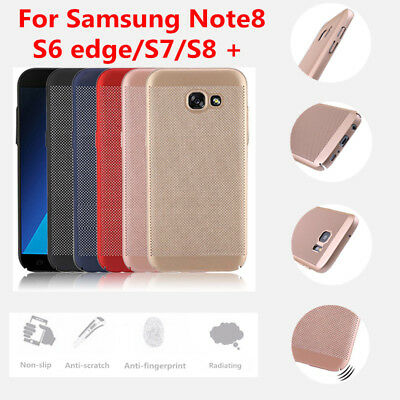 For Samsung J3 J5 Heat Dissipation 360° Protective PC Hard Back Cover Skin Case