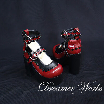 Mimi Collection MSD Doc 1/4 SD BJD Obitsu Doll Red Lace Princess HighHeels Shoes