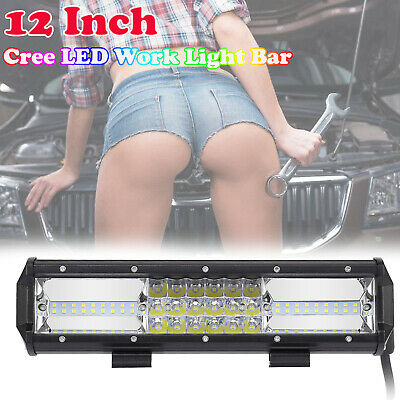 22inch CREE LED Light Bar SPOT FLOOD Offroad 4x4 Driving Work Bars 12V 3 Rows AU