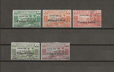 NEW HEBRIDES 1941 SG FD77/81 USED Cat £200