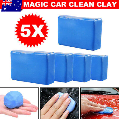 5Pcs Magic Car Clean Clay Truck Vehicle Bar Cleaning Soap Remove Detailing Wash