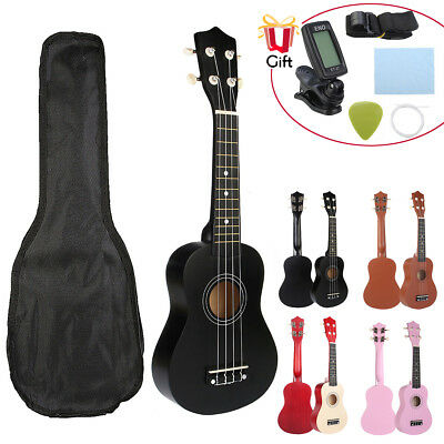 21'' Soprano Ukulele Apelila Hawaiian Acoustic Guitar Musical Instrument w/ Bag
