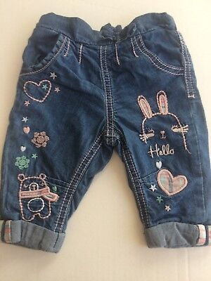 Baby Girl's Jeans (F&f) Up To 3 Months