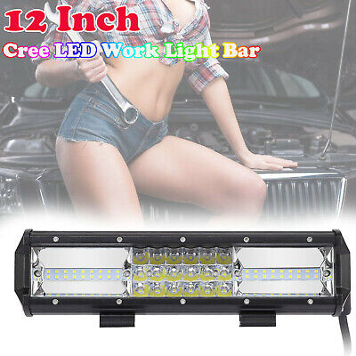 23inch CREE LED Light Bar Spot Flood Driving Lamp Offroad 4WD 4x4 Ford JEEP SUV