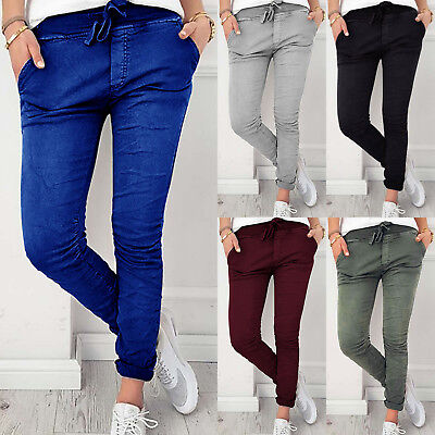 Womens Long Stretchy Skinny Pants Casual Track Legging  Slim Fit Pencil Trousers