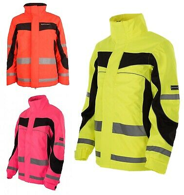 Equisafety Inverno Reversible Jacket Yellow/Orange/Pink Adults/Childrens S-XXL