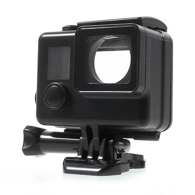 Touchable Screen Waterproof Housing Case for GoPro Hero4 Silver Edition - Black