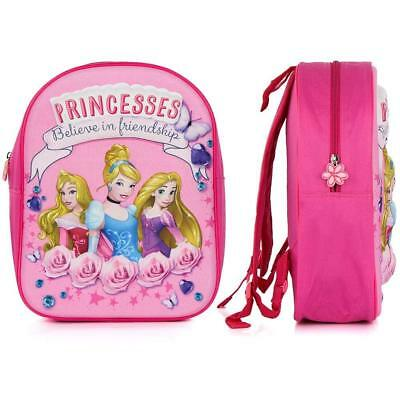 0e096ce9d1af Official Disney Princess 3D Eva Junior Backpack Rucksack School Nursery Bag  New