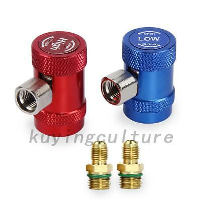 professional 2PCS R1234yf Quick Connector Refrigerant Air Conditioning Adapter