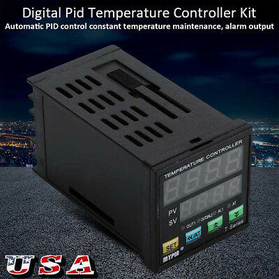 Digital Pid Temperature Controller F & C 25A SSR With Heatsink And PT-100 Probe