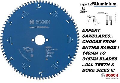 Bosch *Expert For Aluminium* Sawblades Saw Blade Range From 140Mm To 315Mm Quali