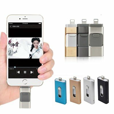 USB Flash Drive OTG Disk Storage Memory Stick For iPhone Android 32/64/128/256GB