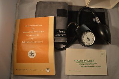 Taylor Sybron Corp Arden Blood Pressure Adult Monitoring Sphygmomanometer EUC
