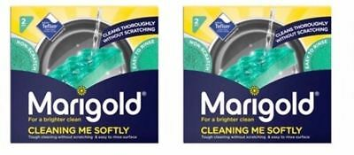 4 x Marigold Cleaning Me Softly Non Scratch All Purpose Teflon Foam Back Scourer