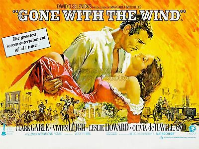 Movie Film Gone Wind Leigh Gable Drama Romance Classic Civil Canvas Print