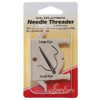Sew Easy Dual Size Automatic Needle Threader Craft Sewing Supplies Tools Bnew