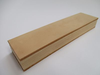 "20x5cm. (8x2"") Wood Handle Leather Sharpening Strop for Razors Knives Edge Tool"