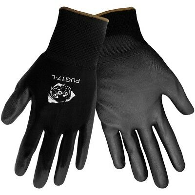Global Glove Polyurethane Coated Anti-Static Nylon Work Gloves, 12 Pair