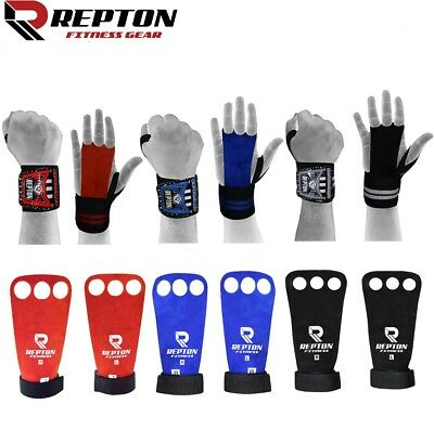 Palm Grips Leather Cross Fit Grips, Repton Leather Gym Glove Pull Up, Unisex